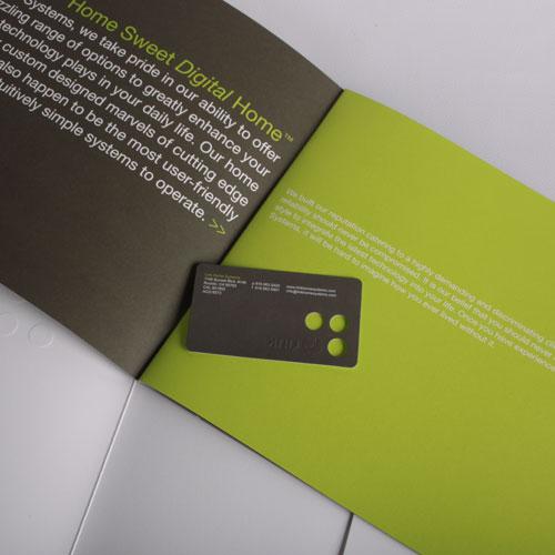 Custom business card & brochure design for Link Systems