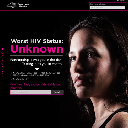 Website design for HIV awareness in New York