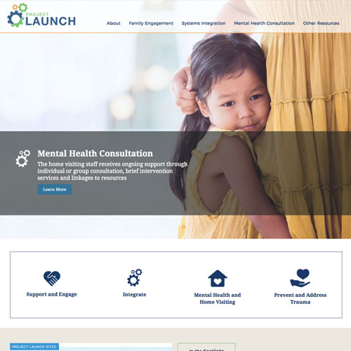Alameda County CA Project LAUNCH website design