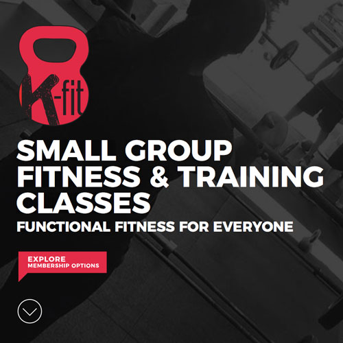 K-Fit fitness gym website design