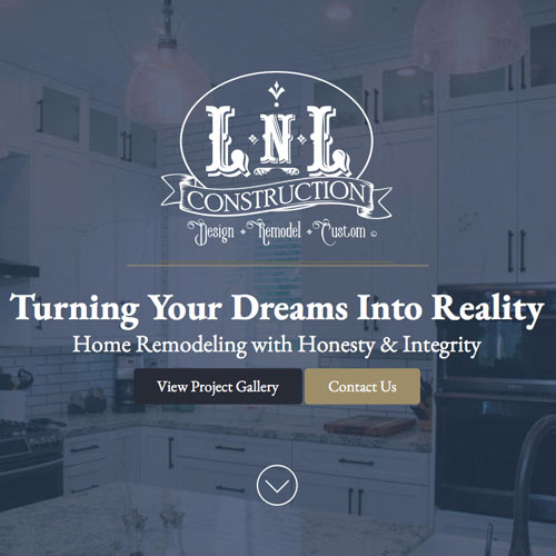 Responsive website development for LNL Construction