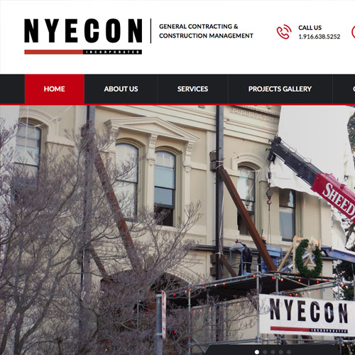 Website design for NYECON Construction