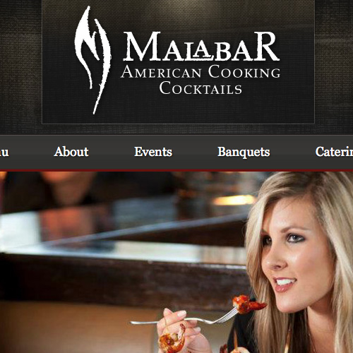 Website design for Malabar American Cooking