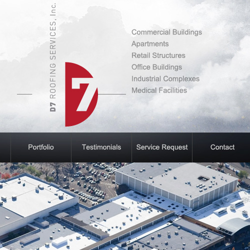 Website design for D7 Roofing