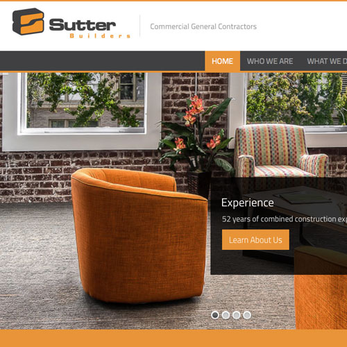 Website design for Sutter Builders